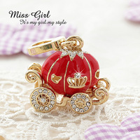 Free shipping Miss girl gold series pumpkin carriage pendant