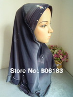 m1906 hot sale mix colors in one lot embossed with drill muslim hijab islamic hijab wholesale freeshipping
