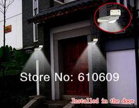 60X New Solar Powered 16 LED Outdoor Lighing Lamp Wall Light Ray Sound Sensor Garden LED