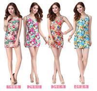 New hot 9 color Dress sleeveless dresses quality goods is joker printed vest skirt teamed summer dress