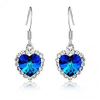 Titanic Rose Classic Crystal - Heart of Ocean Earrings ( 6 color ) women's fashion jewelry cheap wholesale/retail free shipping