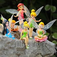 Free Shipping Tinkerbell Fairy Figure beautiful faery toys 6pcs/set