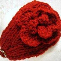 EMS free shipping Handmade knit winter Headband Flower headwrap ear band 2010 style/Each color 10PCS