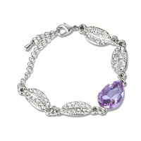 Leaves drop crystal bracelet accessories bracelet