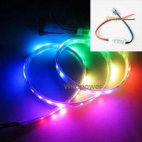 1M 60 Leds Dream Color 5050 RGB LED Strip WS2812B WS2811 Built  Individual Addressable  waterproof 5V & Mini Controller