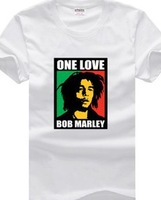 Men's short sleeve T-shirt Rock band Bob Mary Pure cotton Round collar South Korean style music Summer wear
