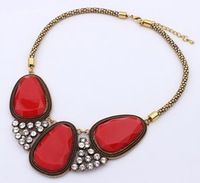 Top Quality Statement gem oval shape   Pendant Necklace Necklaces & Pendants Necklaces Fashion 2013 women