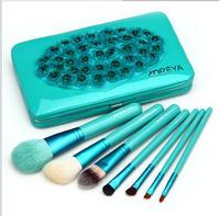 Zoreya 7 portable boxed set cosmetic brush loose powder brush eye shadow brush set animal wool