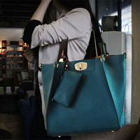 Fashion 2013 female bags vintage blue messenger bag big bag picture package handbag