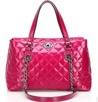Women's Plaid Handbag Genuine Leather messenger bags Women Leather handbags Designers Famous Brand Vintage totes shouler Bag