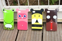 10pcs/lot Newest 11disigns crazy animal Soft TPU silicone Skin Case Cover for iphone4 4S with ear+Free Shipping