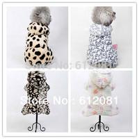 Free shipping Pet dog puppy warm winter fleece double-wear jumpsuit coat clothing three styles