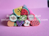 Polymer Clay Canes Nail Decoration Free Shipping PC-064 200 Pcs/lot 1*5 CM Fruit Design Clay Cane Last Special Promotion