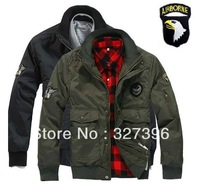 Winter US Air Force 101th Airborne Division Pilot Flying Bomber Jacket Men Military Outdoor Warm Waterproof Motorcycle Jacket
