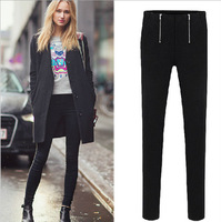 autumn winter Casual pencil Pants Female Trousers Thickening Plus Velvet Pencil Pants Female Skinny Pants plus size S-4XL WJ91