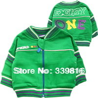 Retail 2013 Spring & Autumn Hot Sell Original Brand Baby Boy's Green Sweatshirt Outwear 3M/6M/9M/12M/18M/24M