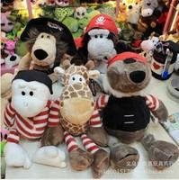 Wholesale plush toys nici series pirates pirates the gorilla lions giraffes gecko bear doll children's game toys