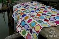 2014 new fashion crochet lace blanket for warm crochet table cloth sofa blanket sierran blanket carpet mats colorful design