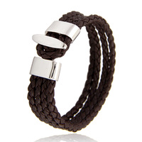 Cool Fashion Men Woman Genuine Leather Bracelet Gift