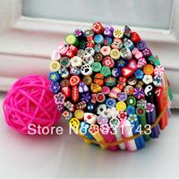 Free Shipping 50pcs Nail Art Canes 3D Nail Stickers Decoration Polymer Clay Fruit nail polish Nail series