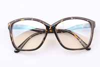 Vintage big box plain mirror radiation-resistant eyeglasses frame plain glass spectacles style computer glasses 6005