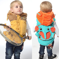 2013 autumn and winter little boys clothing 0 - 3 baby circleof vest child thermal thickening outerwear
