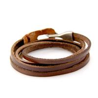 Cool Fashion Genuine Leather Wrap Bracelet Men Woman Punk Bracelets