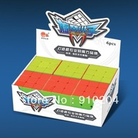 Free shipping!!Cyclone Boys 3x3x3 Magic Cubes (56mm) 6-Pack Colored Stickerless