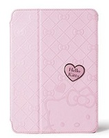 Case Cover for 7.9 Inch Mini Cute Love Heart Kitty  Hello Pattern Style Flip Pu Leather  WithStand Case Protector