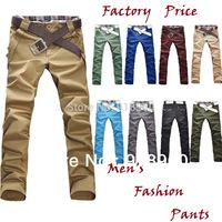 new promotion fashion Men's Pants jeans trousers/candy colored pants man/wholesale big size 10 colors long trousers/MTs