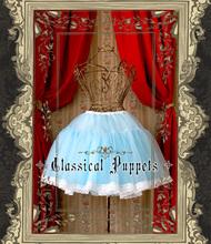 Princess sweet lolita bustle Classic dolls soft organza glass yarn slip lining bell shape super bubble petticoat wide lace(China (Mainland))
