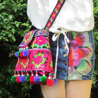 Trapezoid bag women's handbag embroidery bag shoulder bag messenger bag trapezoidal embroidered bag bags