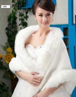 Ivory Winter Faux Long Fur Shawl Bridal Prom Wedding Wrap Cape