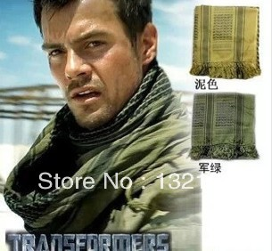 2pieces/lot Four color Outdoor arab scarf thickening arab bandanas 100% cotton Man and women's scarf(China (Mainland))