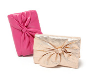 H2109  women simple bowknot evening party bag clutch wedding Wristlet Pursse