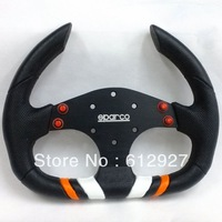 New Model: Sparco Steering Wheel PU / Flat Sparco PU Steering Wheel Racing Car Steering Wheel PU