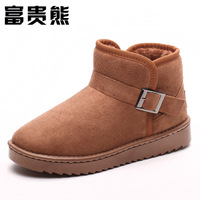 Male and female snow in the winter of 2013 newborns buckle lovers warm cotton short boots