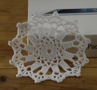 ROUND CROCHET DOILY-100% Cotton Coaster Ship steering wheel-40PCS/LOT-- Physical picture 100%