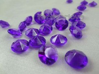 1000pcs Acrylic 10MM purple Diamond Confetti 4Carat  Wedding Favor Party Table Scatter Decoration