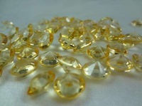 Acrylic Gold Yellow Diamond Confetti  Party Table Centerpiece Decor