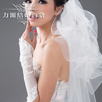 Free shipping Married bridal gloves elastic gauze classic style quality full lace embroidered formal dress