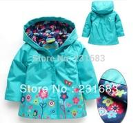 free shipping!hot sale waterproof girls wind coat,Topolino girls green jacket with hood,kids autumn coat