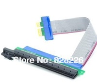300mm Flexible PCI-Express x1 TO x16 Flat Cable Extender Riser Card(For micro case PC)/pcie 1x to 16x cable