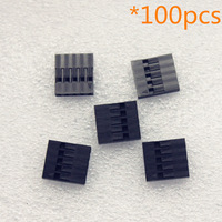 100pcs 2.54mm 5P Pitch Dupont Jumper Wire Cable Housing Female Pin Connector