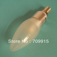 E14 candle led bulb foggy cover Warm White / White 5w 6leds 85-265v free shipping x10