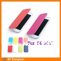 1 Pieces Flip Cover Back Leather Case For Samsung Galaxy S4 mini i9190 Mobile Phone Protector