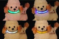 wholesale high quality Adjustable LED Dog Collar Glow Flashing Light Up Pet Necklace Nylon Luminous Safety Collar*2500pcs/lot