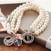 The order of at least $10!(mixed Order) Y306 New Fashion Luxurious Pearl Bracelet for Women lady