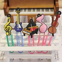 Hot Musical Style Bookmark Clip Piano Violin Guitar 5PCS/LOT Free Shipping