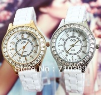 2013 New fashion 20PCS women Ceramic wrist watches Rhinestone Quartz watches, Luxury ladies Automatic watches 2 Design by EMS